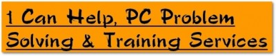 1 Can Help, PC Problem Solving & Training Services